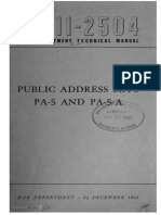 TM11-2504 Public Address Sets PA-5 and PA-5-A, 1943