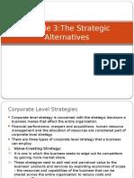 The Strategic Alternatives
