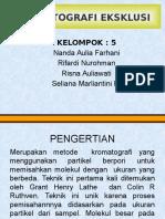 Ppt Kromatografi Eksklusi Kel.5
