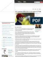 U.S. Pockets $20.6 Bln in Sin Taxes in FY'09