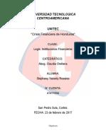 Crisis Financiera de Honduras