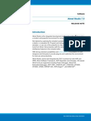 Atmel Studio 7 0 1006 Release Notes pdf   Installation