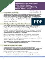 Beers Criteria Public Translation