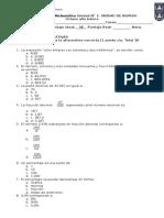 Evaluación Unidad de Repaso de Matemática Octavo