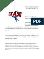 Purpose of Tax in Ghana