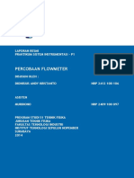 Laporan Praktikum Flowmeter