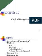 Ch. 10 -13ed Cap Budgeting - Master.ppt