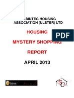 Mystery Shopping Report 2013