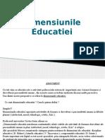 Dimensiunea Educatiei