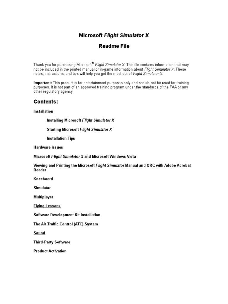 fsx readme rtf | Air Traffic Control | Instrument Flight Rules