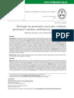 Etiología de Peritonitis Asociada a Diálisis Peritoneal Continua Ambulatoria en Urgencias