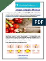 La Dieta Del Gruppo Sanguigno 0 Positivo