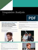 Linguistics Analysis