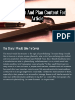 Research and Plan Content for Article