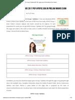 APPSC Group 1 Syllabus 2017 PDF Apspsc.gov