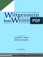 AA.vv. - Wittgenstein Reads Weininger (Cambridge UP)