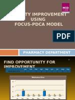 Quality Improvement Using Focus Pdca Model