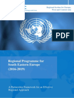 Regional Programme for South Eastern Europe (2016-2019)
