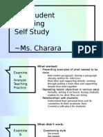 prestudent teaching self study