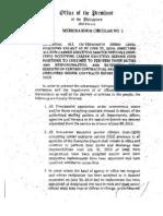 aquino Memorandum Circular 1updated