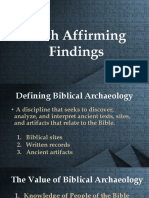 Five Faith Affirming Findings