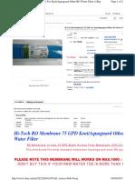 75 GPD RO Membrane Selection