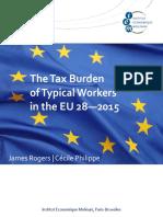 Tax Burden Eu 2015