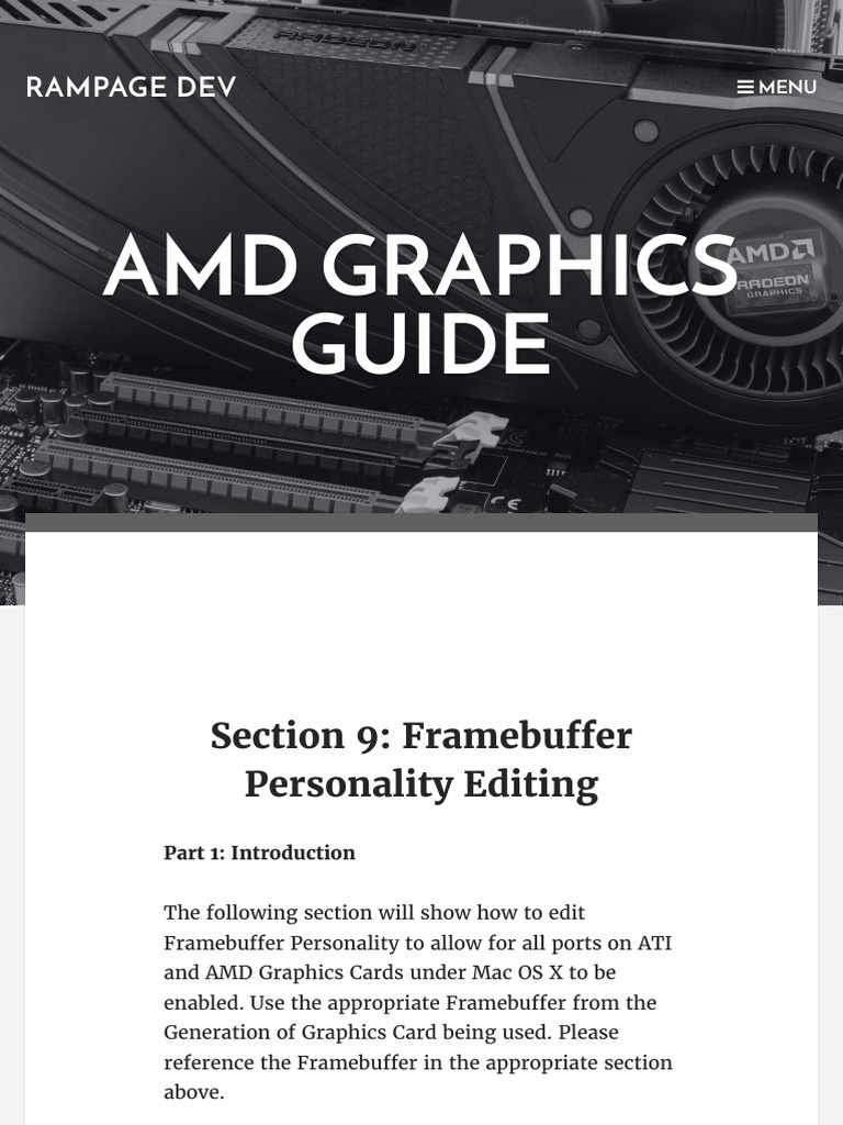 AMD Graphics Guide | Rampage Dev | Page 10 | Hdmi | Graphics