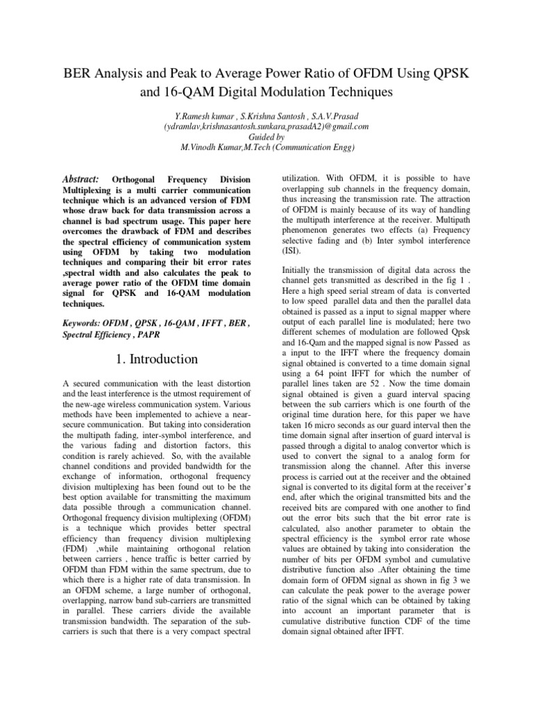 BASE_PAPER pdf | Orthogonal Frequency Division Multiplexing