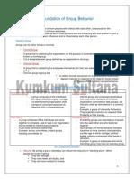Foundation of Group Behavior (Prepared by Kumkum Sultana, DM, CU)