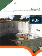 Cerema - Ec7 - Soutènement - Nf p94-282
