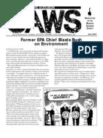 Jun-Jul-Aug 2001 CAWS Newsletter Madison Audubon Society