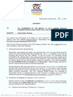 Exam Advisory_2017-0312 CSE-PPT Results