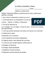 Evaluación Historia y Geografía 3