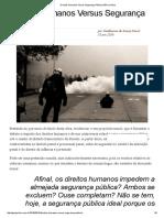 Direitos Humanos Versus Segurança Pública GEN Jurídico