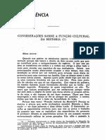 1951 - Eduardo D'Oliveira França Considerações Sôbre a Função Cultural Da História