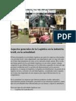 Aspectos Generales de La Logistica en La Industria Textil