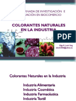 Colorantes Naturales en La Industria Olga Lock