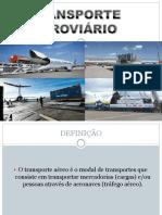 Trabalho de Transporte Aeroviário (Auxiliar de Operações Logísticas) Slides