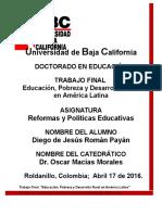 Trabajo Final -Reform y Polit Educativas
