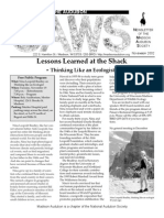 Nov 2002 CAWS Newsletter Madison Audubon Society