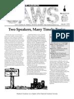 Jan 2003 CAWS Newsletter Madison Audubon Society