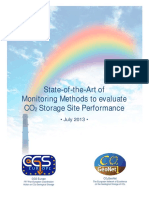 State-of-the-Art of Monitoring Methods to evaluate CO2 Storage Site Performance