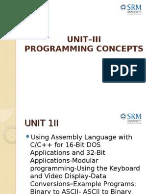 8237 DMA controller | Assembly Language | Modular Programming