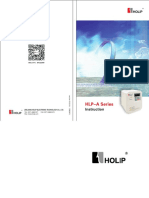 HLP-A Series Operating Manual
