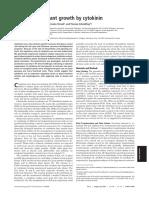 Regulation of plant growth by cytokinin