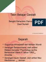 Teori Belajar Gestalt