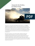 Galloping Horses by Xu Zechen