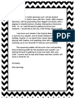 ued 496 jennings caitlin  effective communication and collaboration artifact 1  introduction letter to parents
