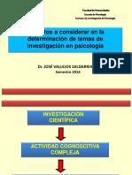 Determinación de Problemas de Investigación